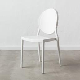 Set 4 Oval Chair bianco