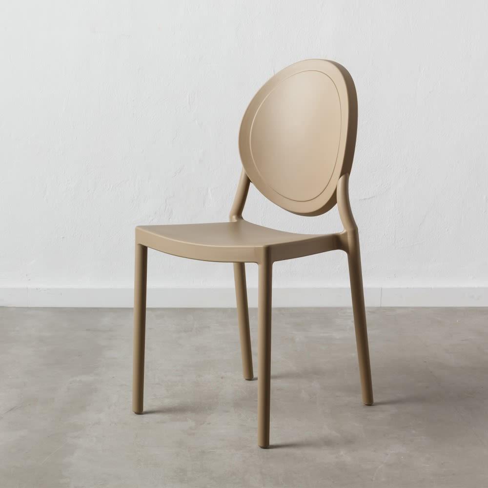 Set 4 Oval Chair tortora chiaro