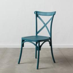 Set 4 sedie Cagliari polipropilene blu