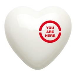 atti a mano. Pensati con il cuore. Un cuore in ceramicadella collezioneHeart Galleryè un messaggio originale, tridimensionale