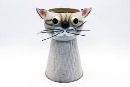 Vaso metallo gatto