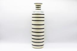 Vaso alto ceramica a righe