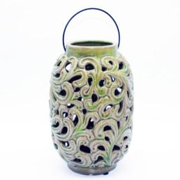 Lanterna in ceramica verde