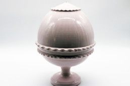 Pumo pugliese in ceramica artigianale rosa