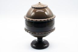 Pumo pugliese in ceramica artigianale colore fango