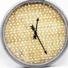 Orologio legno e metallo