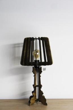 Lampada da comodino in legno Sarce'