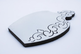 Sottopentola in ceramica bianco