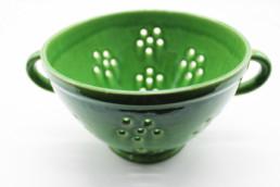 Scolapasta ceramica verde