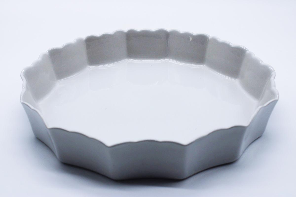 Teglia da crostata bianca