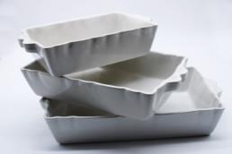 Teglia da forno rettangolare bianca