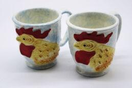 Coppia tazze colazione gallo