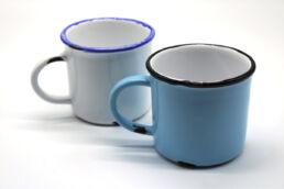 Coppia tazze colazione ceramica smaltata 2