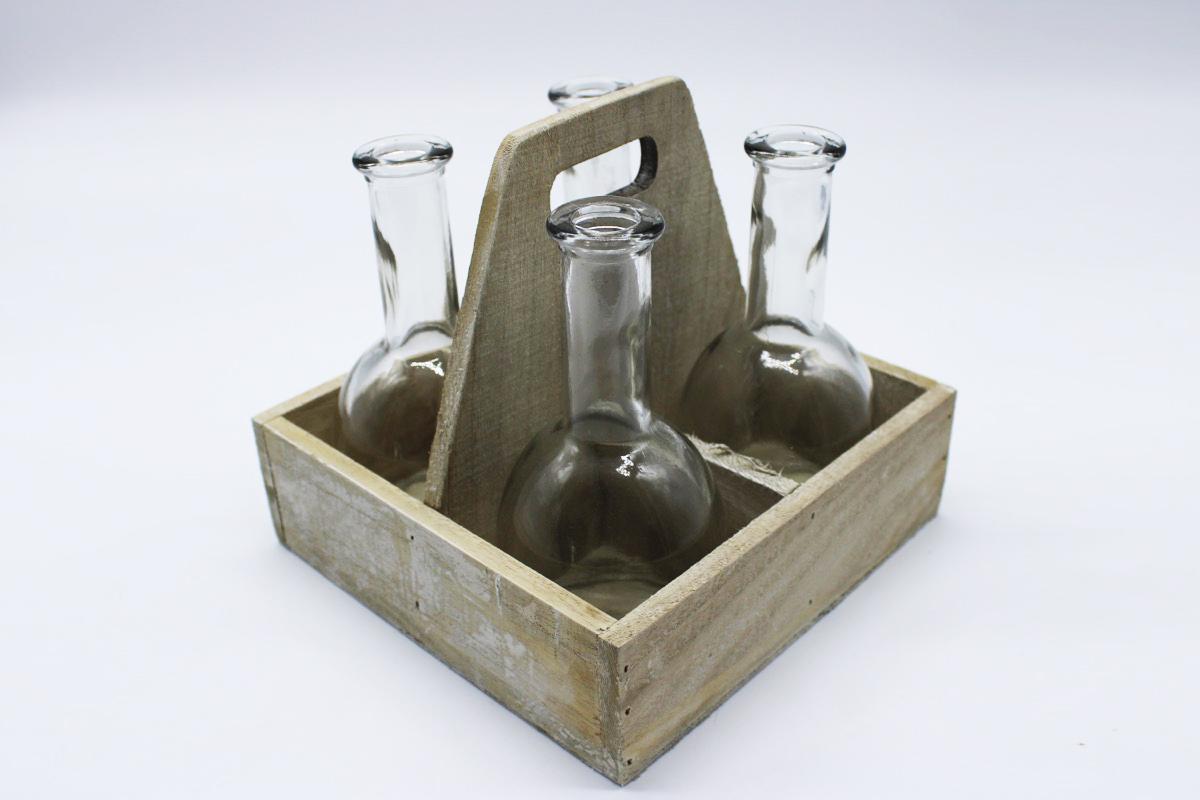 Porta bottiglie in cassetta