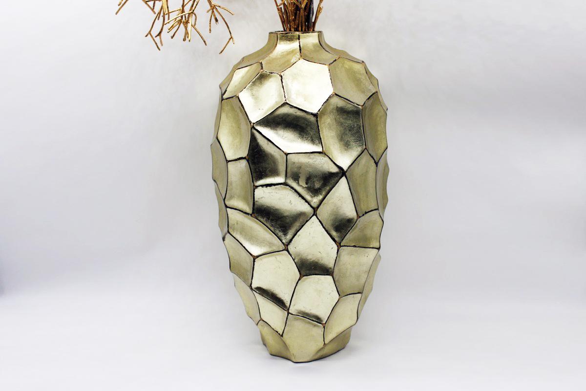 Vaso sfaccettato oro big