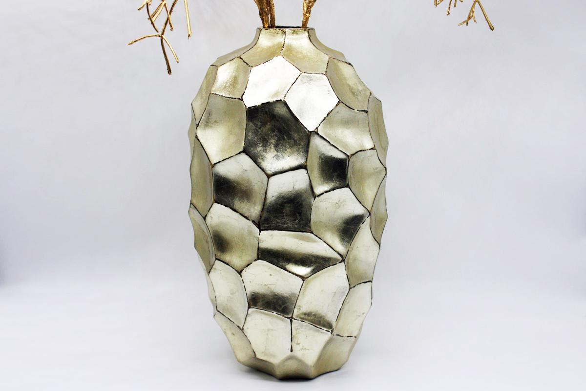 Vaso sfaccettato oro small