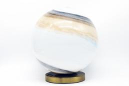 Lampada da tavolo a sfera in vetro Beth