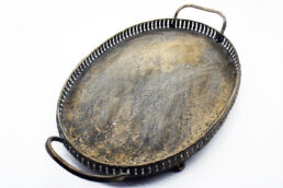 Vassoio in metallo ovale