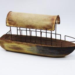 Decorazione barca in legno e metallo