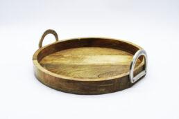 Vassoio circolare in legno