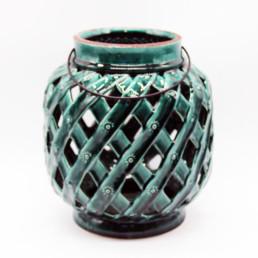 Lanterna in ceramica verde big
