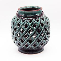 Lanterna in ceramica verde small