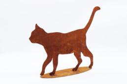 Sagoma gatto in ferro ruggine