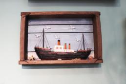 Quadro barca legno