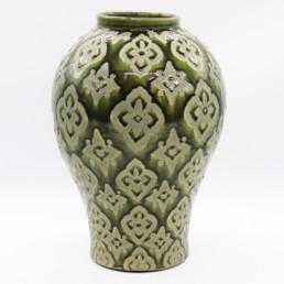 Vaso decorato verde