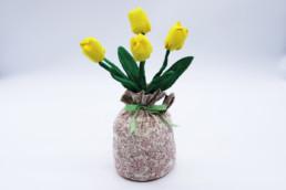 Fermaporta tulipani in tessuto