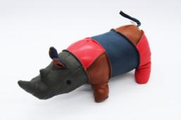 Fermaporta in pelle rinoceronte