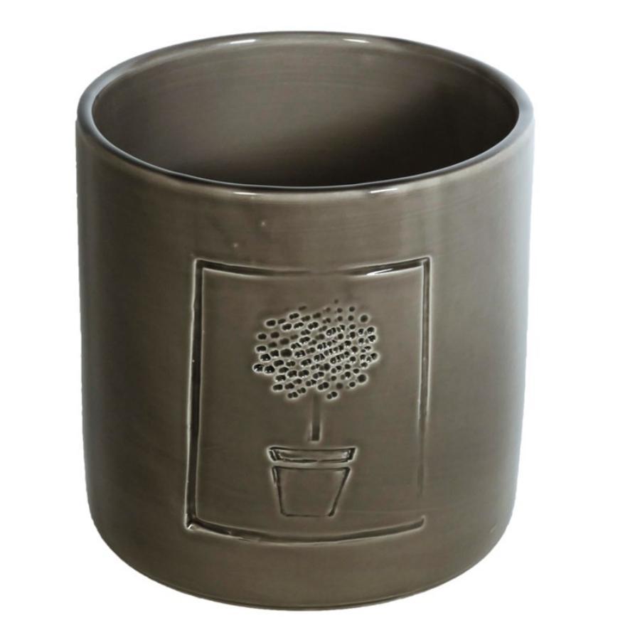 Vaso ceramica tortora linea Vivaio