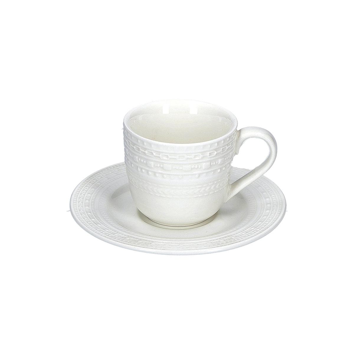 Casale - Servizio caffè 6 pezzi con piattino.