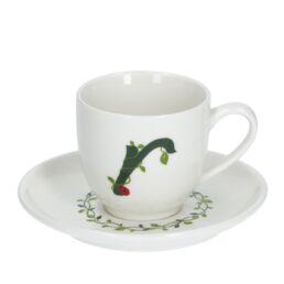 Solotua Tazza caffè con piattino lettera R