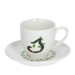 Solotua Tazza caffè con piattino lettera S