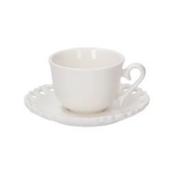 Set 6 pezzi tazza caffè con piattino Valentino
