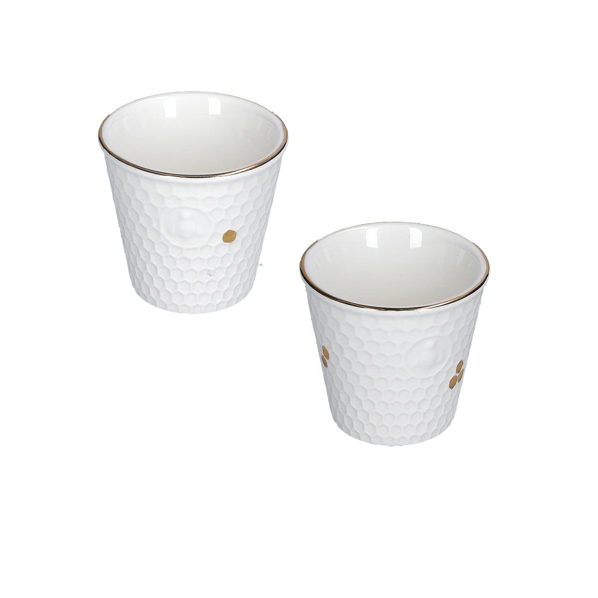 Aperegina oro Set 2 bicchierini caffè cc 75
