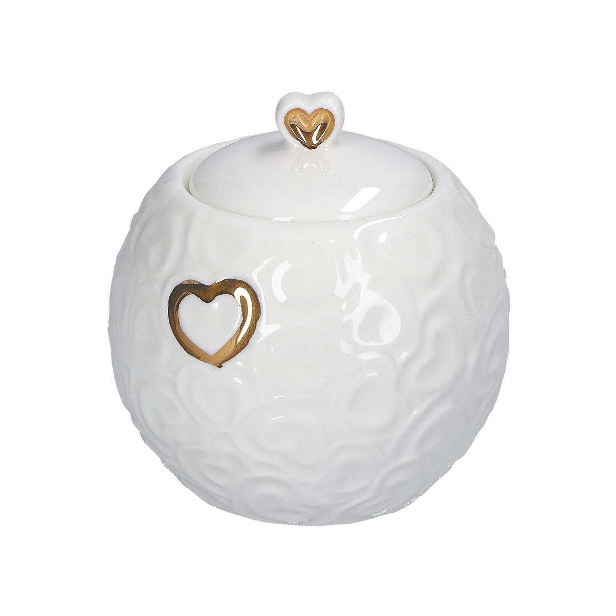Zuccheriera con coperchio Valentino Oro