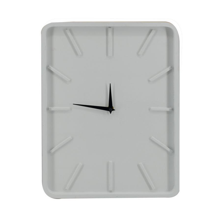 Orologio in legno bianco