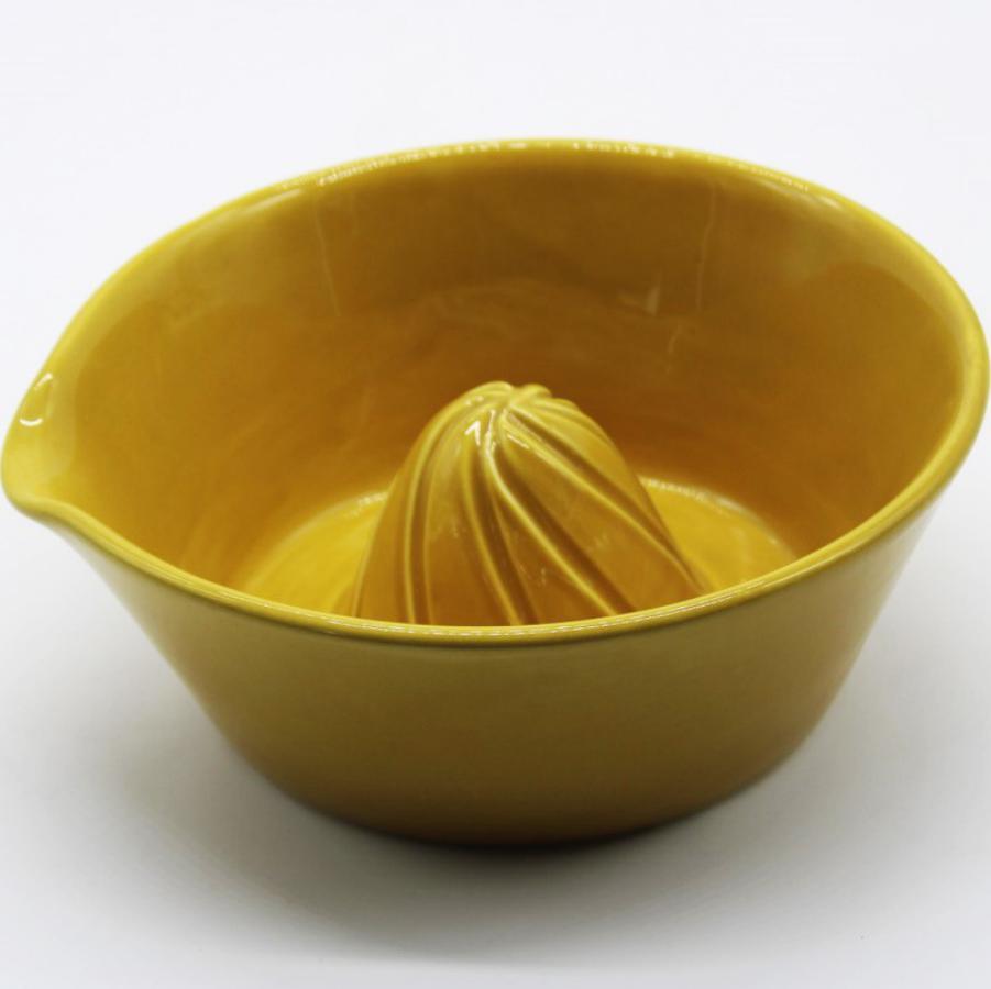 Spremiagrumi manuale ceramica ocra