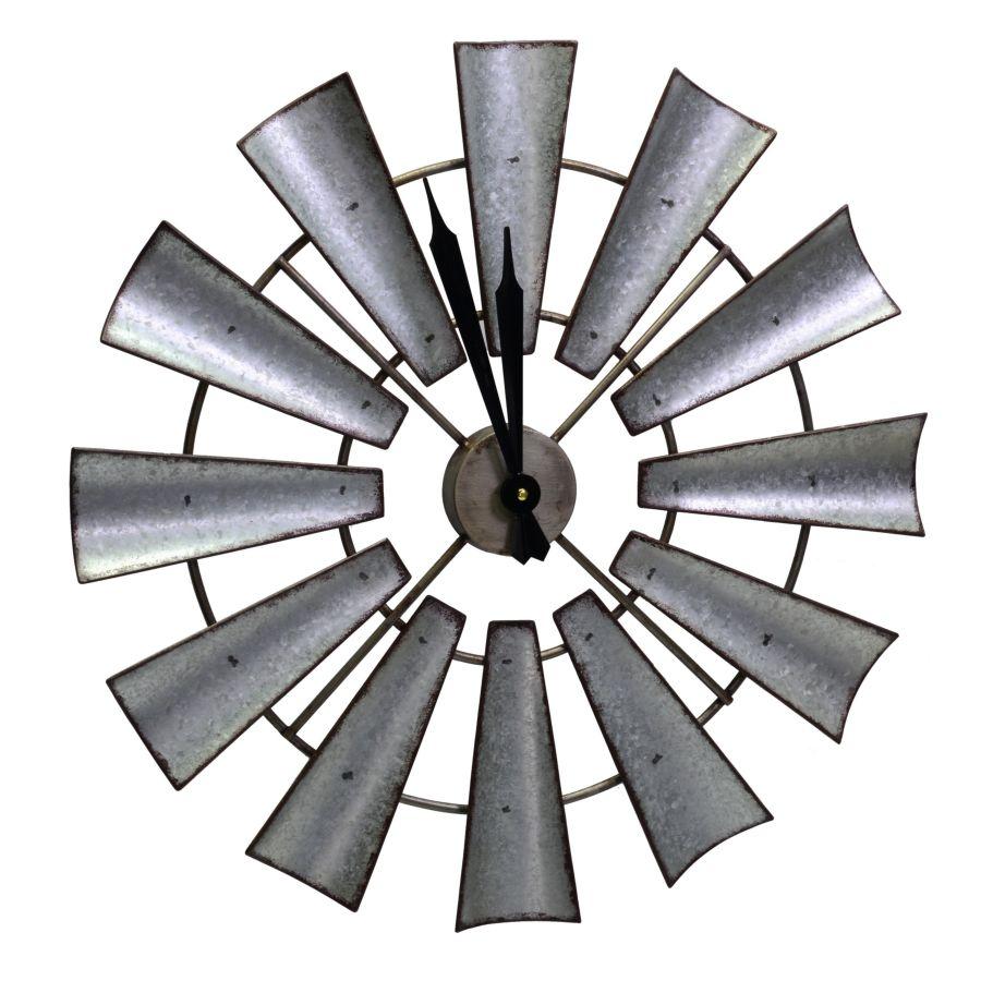 Orologio metallo grigio nero elica tondo