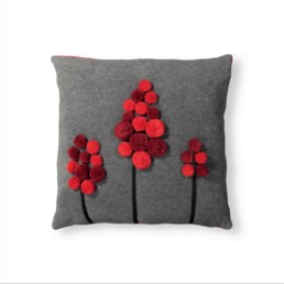 Cuscino in pile bacche rosse