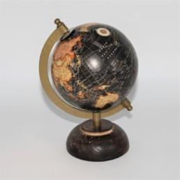 Mappamondo planisfero nero