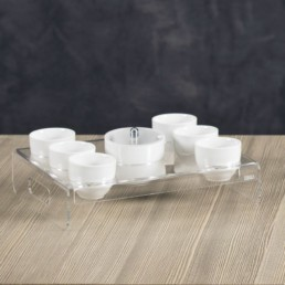 Vassoio Like a Water 6 tazze + zuccheriera