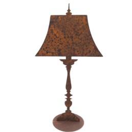 Sagoma lampada in ferro ruggine