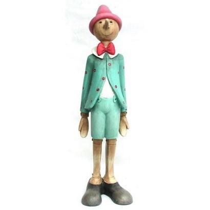 Statuina Pinocchio giacca pois