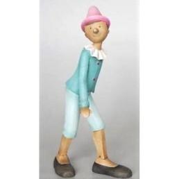 Statuina Pinocchio turchese