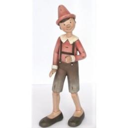 Statuina Pinocchio con le bretelle