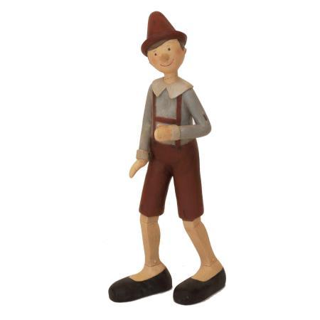 Statuina Pinocchio con le bretelle rosse