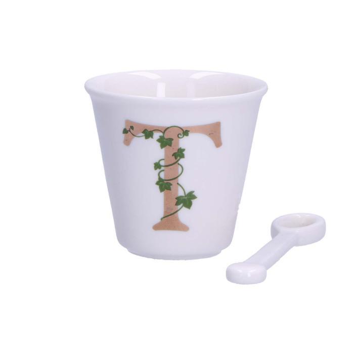 Unico – tazza caffè con cucchiaino – T